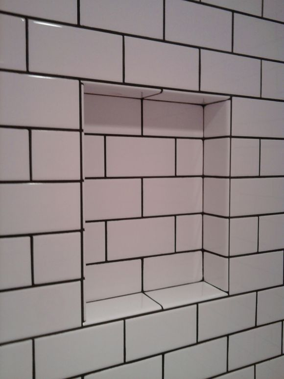 3 X 6 Subway Tile With Tobacco Brown Grout Old School