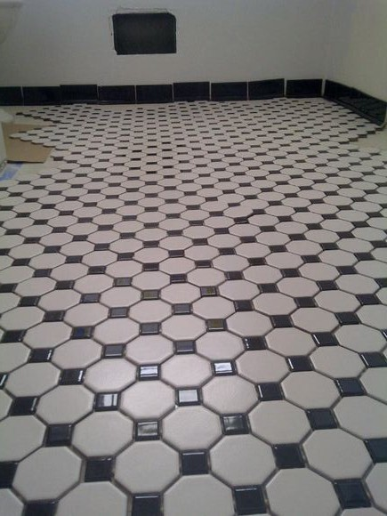 Hex Tile Floor Dry Fit Old School Renovations Inc