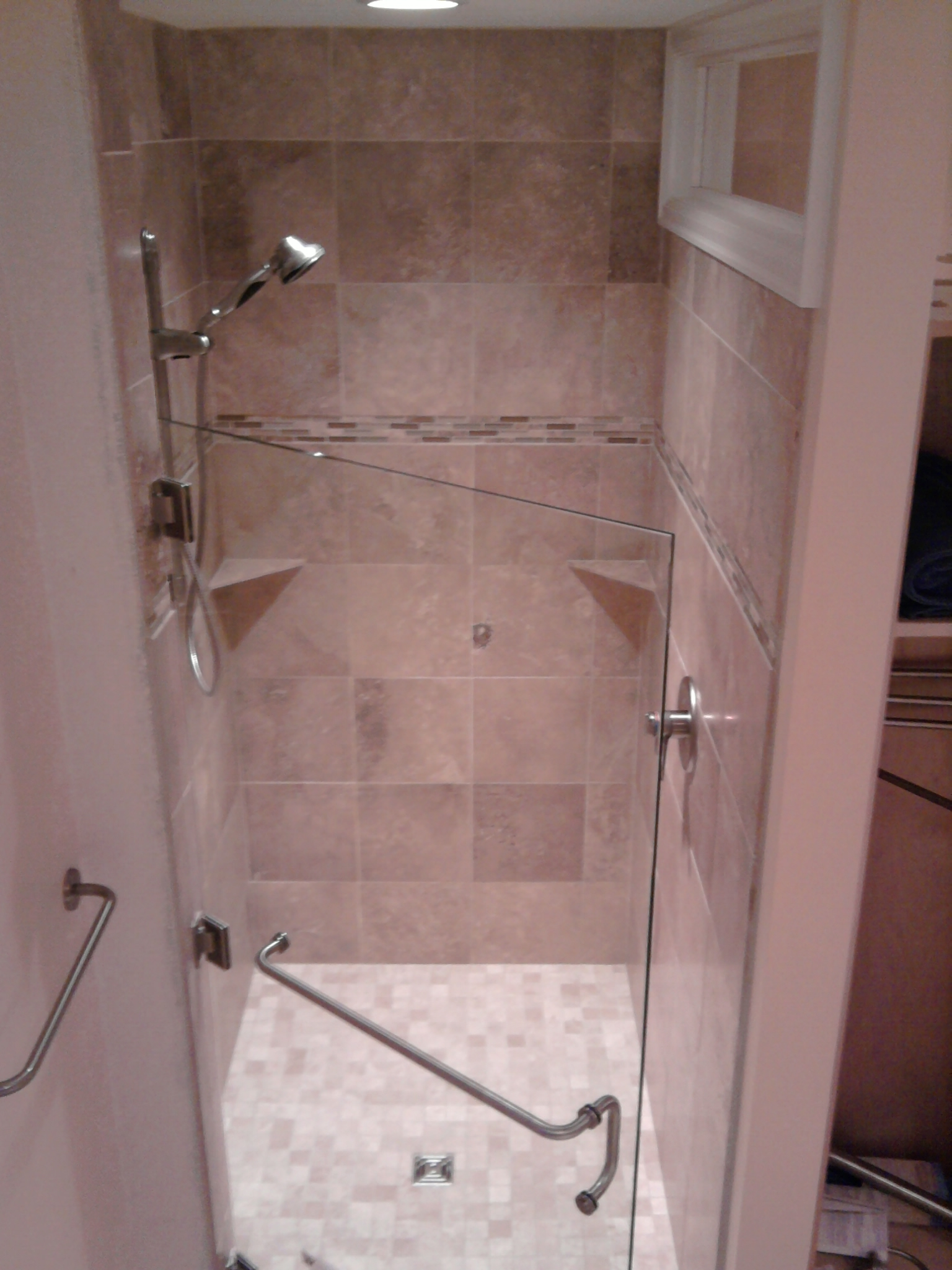 We do so love our stand up showers. - Old School Renovations, Inc.