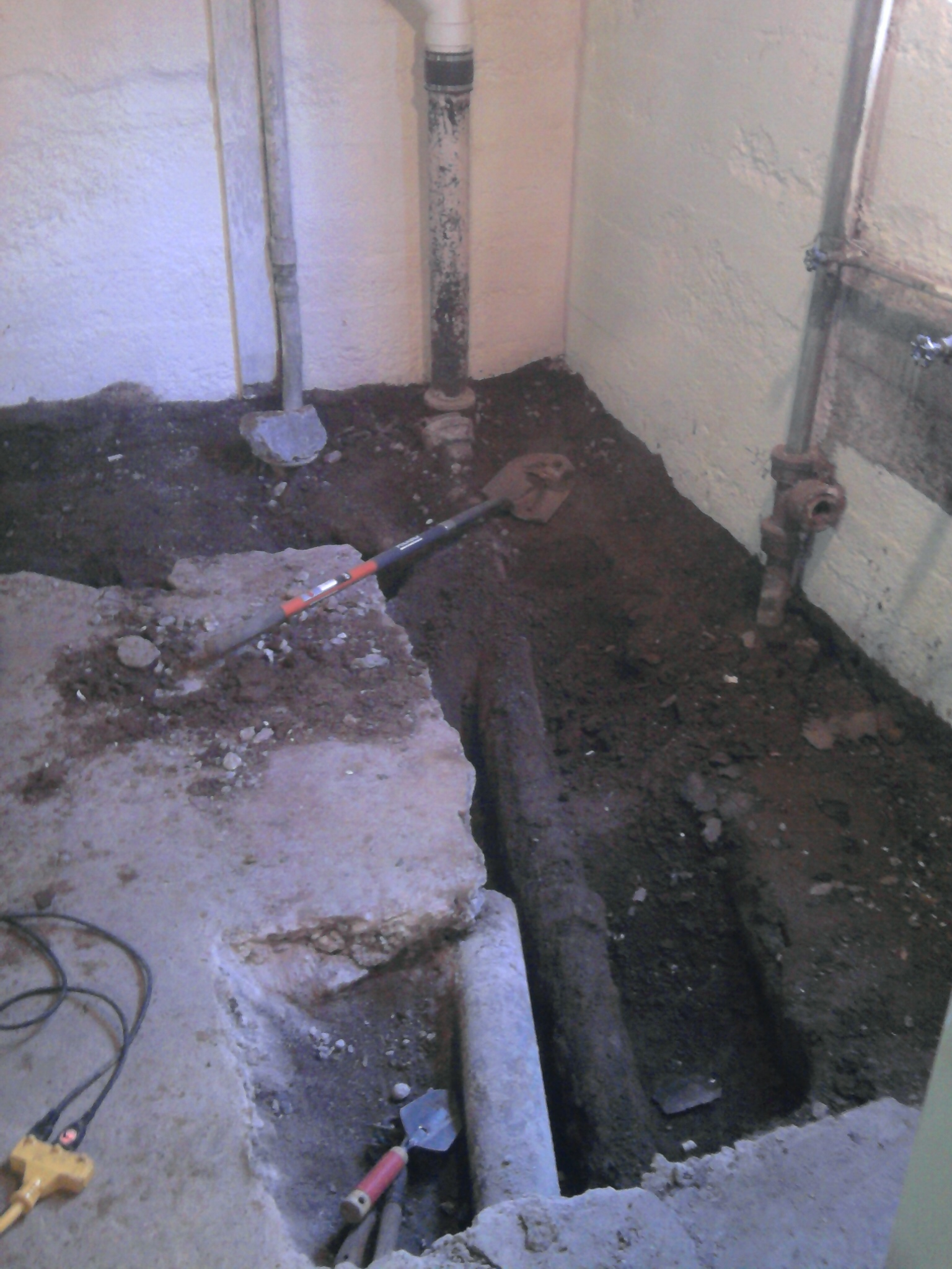 Basement bathrooms-R-us. - Old School Renovations, Inc.