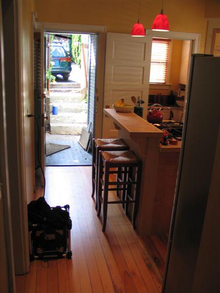 Kitchen projects back door traffic flow for Kitchen back door